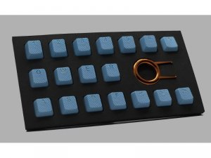 Tai-Hao Rubber Gaming Backlit Keycaps-18 keys Neon blue