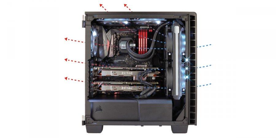 エアフローの効率化を重視したE-ATX対応ミドルタワー型PCケース ...