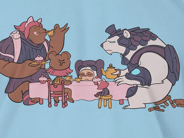 League of Legends Volibear Teaparty T(M) 02 ゲーム その他・趣味 ゲーム関連グッズ APPAREL