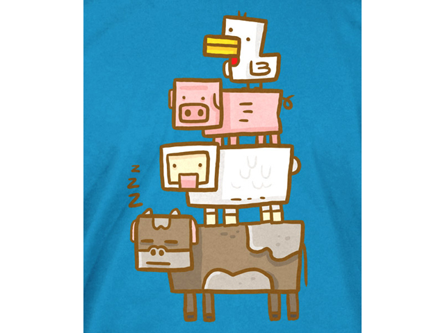 Minecraft Animal Totem Youth Tee (M) 02 ゲーム その他・趣味 ゲーム関連グッズ APPAREL