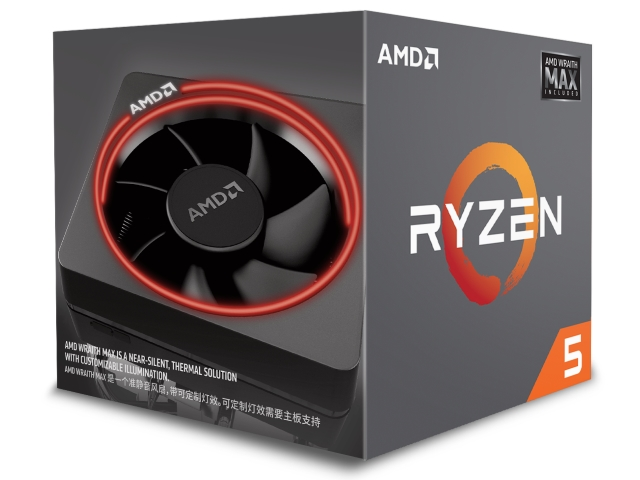 AMD Ryzen 5 2600X with Wraith MAX cooler BOX