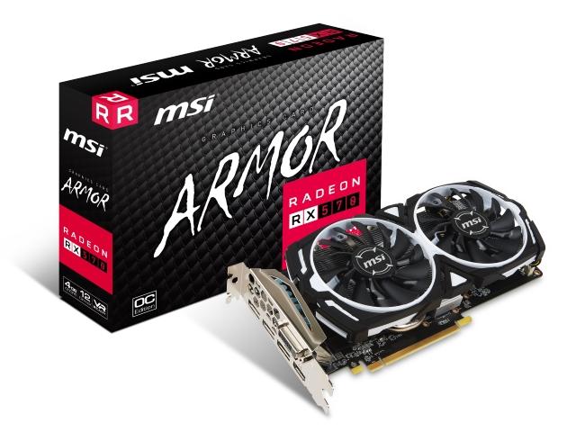 MSI RADEON™ RX 570 ARMOR 4G OC