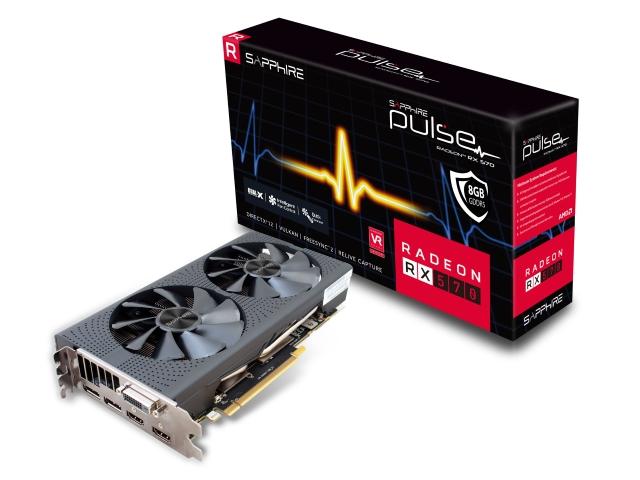 PULSE RADEON RX 570 8G GDDR5 DUAL HDMI/DVI-D/DUAL DP OC W/BP (UEFI) BOX (11266-36-20G/VD6547)