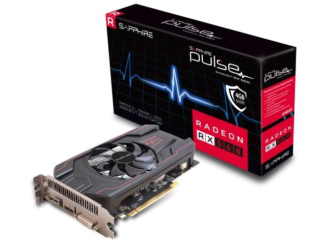 PULSE RADEON RX 560 4G GDDR5 HDMI/DVI-D/DP OC (UEFI) BOX (11267-18-20G/VD6594)