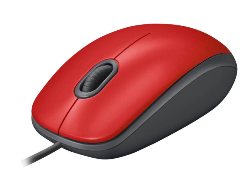 Logicool M110 SILENT Mouse レッド
