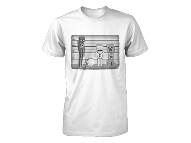 Minecraft Lineup Youth Tee White (M-Size)