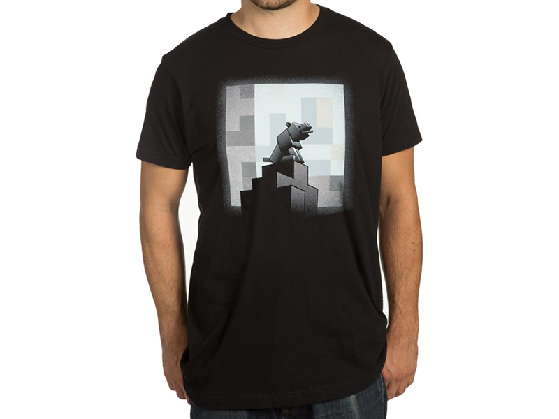 Minecraft One Wolf Moon T-Shirts (M-Size)